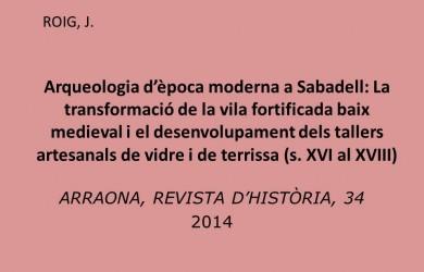 Arqueologia època moderna Sabadell
